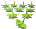 12x JapanBargain Green Porcelain Crane Chopstick Rest