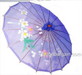 Blue Transparent Chinese Parasol 22in
