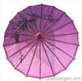 Purple Oriental Parasol 32in