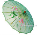 Green Transparent Chinese Parasol 22in
