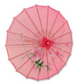 Pink Transparent Chinese Parasol 22in