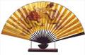 Large Oriental Table Fan Dragon 18in