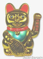 Gold Lucky Cat Maneki Neko Beckoning 18in