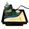 Zen Garden Table Water Fountain w/ Mill