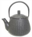 Black Basket Wave Cast Iron Teapot 24oz