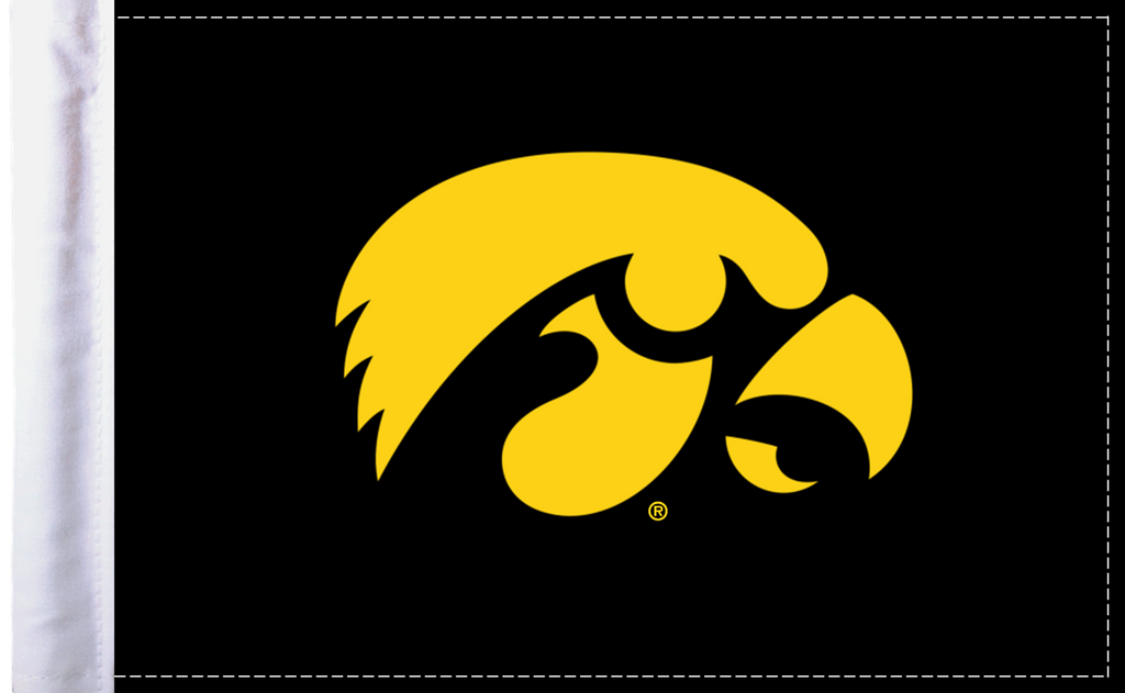 "Iowa Hawkeyes 6""x9"" Motorcycle Flag"