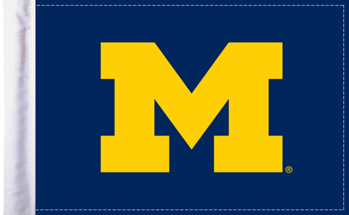 """Michigan Wolverines 6""""x9"""" Motorcycle Flag"""