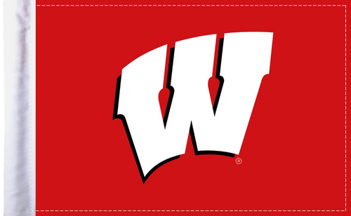 """Wisconsin Badgers 6""""x9"""" Motorcycle Flag"""