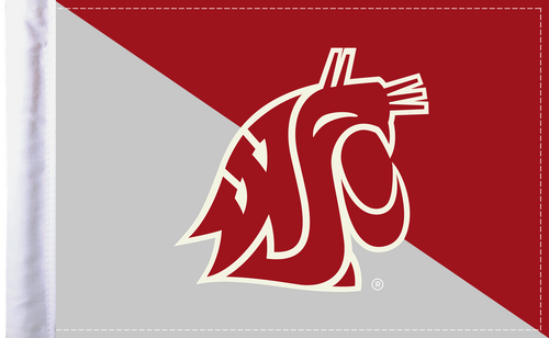 "Washington State Cougars 6""x9"" Motorcycle Flag"