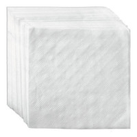 White Beverage Napkin, 9x9