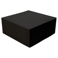 Black Beverage Napkin, 10x10, 2-Ply