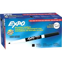 Dry Erase Markers, Fine-Tip Black, 12pk