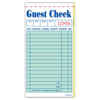 "Choice™  Guest Check, 2P Booked, 3.5"" x 6.75"", 50/50"