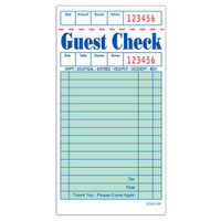 "CHOICE™ Guest Check, 1P Booked, 3.5"" x 6.75"", 50/100"