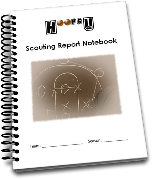 basketball scouting report notebook. Black Bedroom Furniture Sets. Home Design Ideas