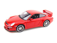 Porsche 911 ( 997 ) GT3 Red 1/18 Scale Diecast Car Model By Welly 18024