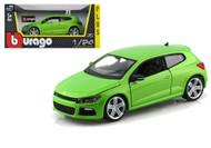 Volkswagen Scirocco R Green 1/24 Scale Diecast Car Model By Bburago 21060