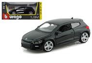 Volkswagen Scirocco R Black 1/24 Scale Diecast Car Model By Bburago 21060