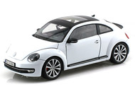 Volkswagen New Beetle With Sunroof White 1/24 Scale Diecast Car Model By Welly 24032