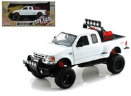 2001 Ford F-150 XLT Flareside Supercab Pickup Truck Off Road White 1/24 Scale Diecast Model By Motor Max 79132