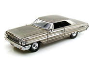 Greenlight 1/18 Scale Men in Black 3 1964 Ford Galaxie 500 Agent Car Black Chrome Diecast Car Model 12860