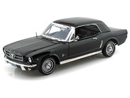 Motor Max 1/18 Scale 1964 1/2 Ford Mustang Black Diecast Car Model 73164