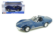 1970 Chevrolet Corvette Stingray Blue 1/24 Scale Diecast Car Model By Maisto 31202