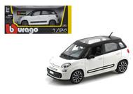 Fiat 500L White 500 L 1/24 Scale Diecast Car Model By Bburago 22126