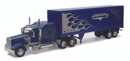 Newray 1/32 Scale Kenworth W900 Dry Van Container Semi Truck & Trailer 10253