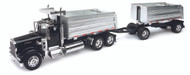Kenworth W900 Twin Dump Truck Semi Truck & Trailer 1/32 Scale By Newray 11943