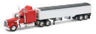 Kenworth W900 Grain Hauler Semi Truck & Trailer 1/32 Scale By Newray 10773