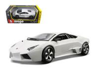 Lamborghini Reventon White 1/24 Scale Diecast Car Model By Bburago 21041