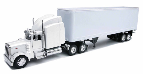 Peterbilt 379 Dry Van Container Semi Truck & Trailer 1/32 Scale By Newray 14363