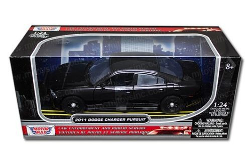 2011 Dodge Charger Pursuit Police Black 1/24 Scale Diecast Car Model By Motor Max 76953