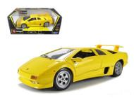 Lamborghini Diablo Yellow 1/18 Scale Diecast Car Model By Bburago 12042