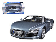 Audi R8 Spyder Blue 1/24 Scale Diecast Car Model By Maisto 31204