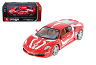 Ferrari F430 Fiorano #27 Red 1/24 Scale Diecast Car Model By Bburago 26009