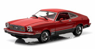1976 Ford Mustang II Mach 1 Red 1/18 Scale Diecast Car Model By Greenlight 12867