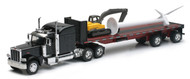 Newray 1/32 Scale Peterbilt 389 With Excavator & Wind Turbine Semi Truck 10333