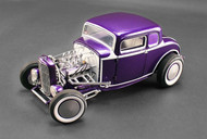 ACME GMP 1/18 Scale 1932 Ford 5 Window Coupe Magnetic Moon Caps Purple Diecast Car Model A 1805009