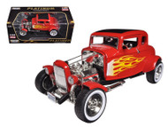1932 Ford Hot Rod Red With Flames Platinum 1/18 Scale Diecast Car Model By Motor Max 77172