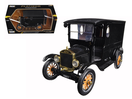 1925 Ford Model T Paddy Wagon Black Platinum 1/24 Scale Diecast Car Model By Motor Max 79316