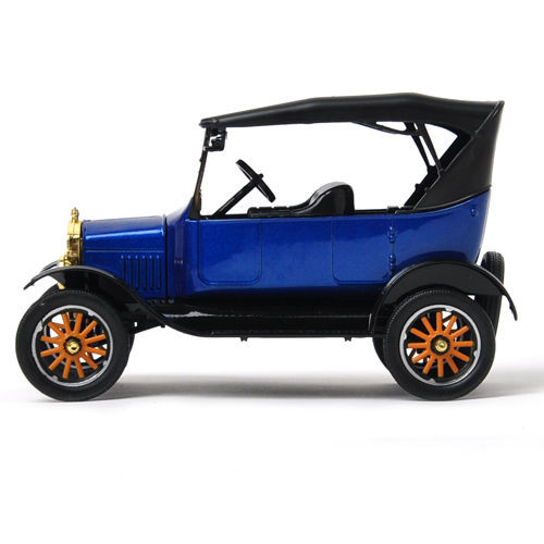 1925 Ford Model T Touring Blue Platinum 1/24 Scale Diecast Car Model By Motor Max 79319