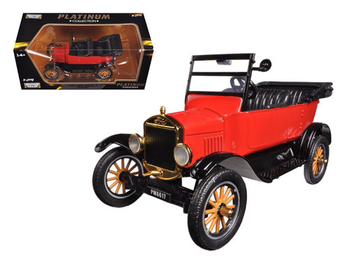 1925 Ford Model T Touring Red Platinum 1/24 Scale Diecast Car Model By Motor Max 79328