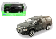 2008 Chevrolet Tahoe SUV Street Version Black 1/24 Scale Diecast Car Model By Welly 22509