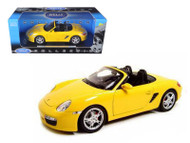 Porsche Boxster S Convertible Yellow 1/18 Scale Diecast Car Model By Welly 18005