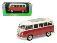 1962 Volkswagen Microbus 1/18 Scale Diecast Model By Welly 12531