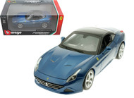 Ferrari California T Closed Top Blue 1/18 Scale Diecast Car Model By Bburago 16003