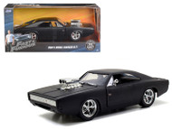 1970 Dodge Charger R/T Matt Black Doms Fast & Furious 1/24 Scale Diecast Car Model By Jada 97174