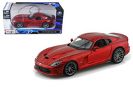 2013 Dodge Viper SRT GTS Burgundy 1/24 Scale Diecast Car Model By Maisto 31271